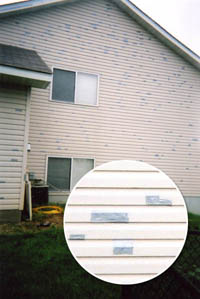 Duct Tape Siding Fix After The Hail Storm In Twin Cities Area My Son Law Fixed Side Of There House With To Prevent Any More Water